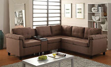 acme sectional sofa chocolate car seat australia furniture brown sectionals ebay set living room home interior linen color pu