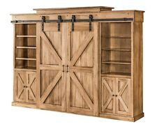 wooden wall units living room bookcases built in solid wood entertainment stands ebay amish barn door tv center unit rustic track doors
