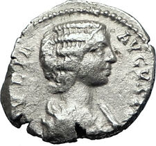 JULIA DOMNA Caracalla & Geta mother 209AD Silver Ancient Roman Coin JUNO i70200