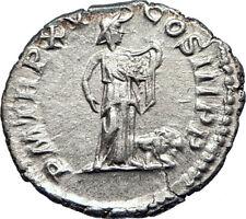 SEPTIMIUS SEVERUS 207AD Rome  Ancient Silver Roman Coin Africa Lion Rare i73579