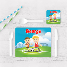 football placemats coasters for
