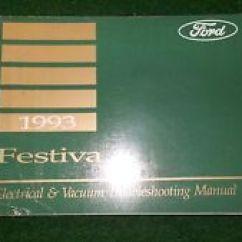 Wb Festiva Wiring Diagram 2001 Hyundai Elantra Engine Ford Ebay 1993 Electrical Manual Dealer Factory