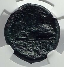 Neapolis in Campania 250BC Apollo Caduceus Lyre  Omphalos Greek Coin NGC i77332