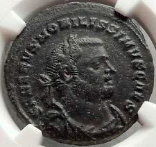 SEVERUS II 305AD London Londinium Mint Authentic Ancient Roman Coin NGC i66860