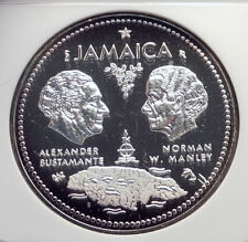 1972 JAMAICA 10th Independence Anniversary SILVER 10 Dollars Coin NGC i72148