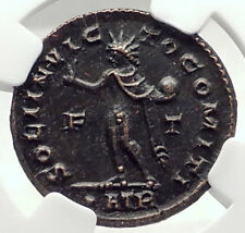 CONSTANTINE I the GREAT 317AD Authentic Ancient Roman Coin w SOL SUN NGC i72796