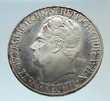 1965 AUSTRIA Vienna Tech School J J von Prechtl Silver 25 Schilling Coin i75390