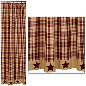 primitive star shower curtain for sale