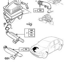 Vauxhall Zafira Car Air Intake & Fuel Pipes, Lines