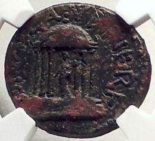Nero Wife Diva POPPAEA & Daughter CLAUDIA Caesarea Panias Roman Coin NGC i69330