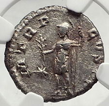 SEVERUS ALEXANDER Authentic Ancient 222AD Rome Silver Roman Coin MARS NGC i72757