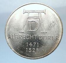 1971 D GERMANY Vintage Authentic Silver ALBRECHT DURER Artist German Coin i71935