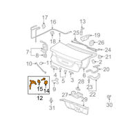 New Tailgate Trunk Lids Lock Core With Key for Honda Civic