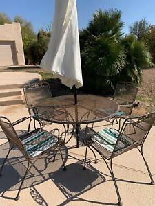 wrought iron patio garden furniture