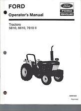 FORD 5610, 6610, 7610 Tractor Operators Manual, Series II