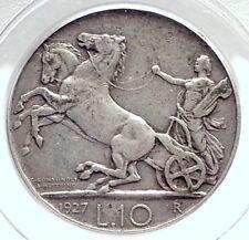 1927 ITALY King VICTOR EMMANUEL III Silver 10 Lire Italian Coin PCGS  i73893