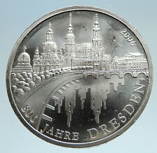 2006 GERMANY 800 Yrs DRESDEN Antique Genuine Silver German 10 Euro Coin i75076