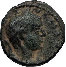 ELAGABALUS 218AD Caesarea Maritima in Samaria Ancient Roman Coin SERAPIS i66927