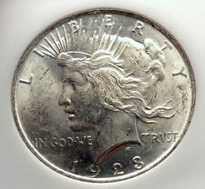 1923 US Silver PEACE DOLLAR Large United States Coin LIBERTY & EAGLE NGC i70567