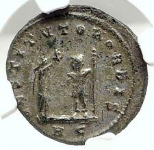 AURELIAN Authentic Ancient 272AD Genuine Original Roman Coin VICTORY NGC i76295