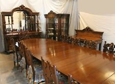 antique oak dining chairs oly studio sets 1900 1950 ebay victorian 16 pc matching room set buffet table china