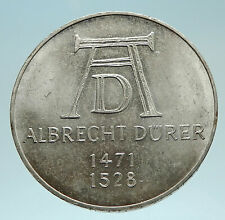 1971 D GERMANY w ALBRECHT DURER Artist Genuine Antique Silver German Coin i76205