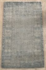 pottery barn kitchen rugs remodeling tips carpets ebay kailee printed rug porcelain blue 3x5 hand tufted handwoven wool