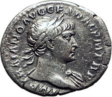 Trajan  103AD Rome Authentic Genuine Silver Ancient Roman Coin SPES  i64473