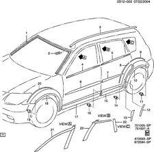 2003 Pontiac Vibe Hatch Diagram. Pontiac. Auto Parts