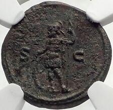 TRAJAN DECIUS Ancient As / Semis Roman Coin of Rome MARS NGC Certified i70405