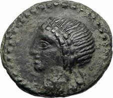 Alaisa Archonidea Sicily RARE R1 Authentic Ancient 95BC Greek Coin APOLLO i73504