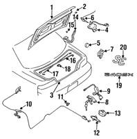 Genuine Nissan 2011-2014 Murano Rear Bumper Protective