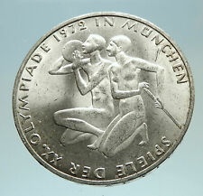 1972 Germany Munich Summer Olympics XX ATHLETES on 10 Mark Silver Coin i76821