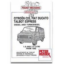 Pocket Mechanic Car manual Citroen C25 Fiat Ducato Talbot