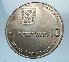 1970 ISRAEL Jewish Pidyon Haben Redemption 1st Born SILVER 10 Lirot Coin i68527