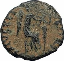 AELIA FLACILLA Theodosius I Wife 383AD Ancient Roman Coin VICTORY CHI-RHO i67679