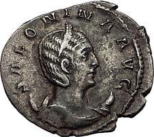 Salonina 257AD Authentic Genuine Silver Ancient Roman Coin Venus Love i58981
