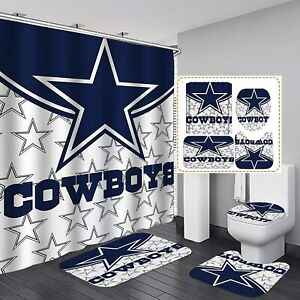 dallas cowboys curtains in shower