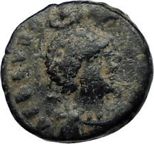 EUDOXIA Arcadius Wife 400AD Authentic Ancient Roman Coin HAND OF GOD i67377