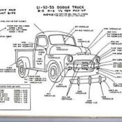 Dodge Truck Parts Diagram Standby Generator Transfer Switch Wiring Petes Auto Data Ebay Stores 1948 1949 1950 1 2 3 4 Ton Exterior Body