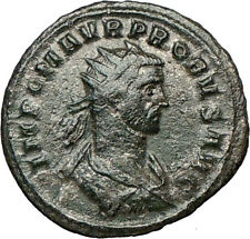 PROBUS 279AD Silvered  Rare Ancient Roman Coin Trophy Tropaion  i18746
