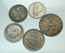 GROUP LOT of 5 Old SILVER Europe or Other WORLD Coins for your COLLECTION i75693