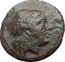 MYRINA in AEOLIS 2-1cBC Authentic Ancient Greek Coin APOLLO AMPHORA LYRE i63137