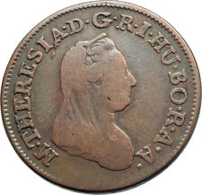 1780 AUSTRIA w Queen Maria Theresa Genuine Antique Kreuzer Austrian Coin i74540