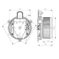 14ZP89H Front HVAC Blower Motor Resistor Connector Fits