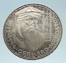 1969F GERMANY GERARDUS MERCATOR Antique Genuine Proof Silver 5 Mark Coin i75295