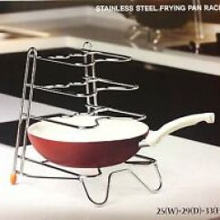 Pot Racks For Kitchen Navy Cabinets Stainless Steel Hanging Pots Pan Ebay 4 Tier Metal Saucepan Frying Storage Stand Cover Rack Holder