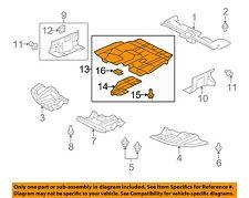 2003 mitsubishi lancer oz rally radio wiring diagram for telephone master socket radiators parts ebay oem 08 15 splash shield under engine radiator cover 5379a167