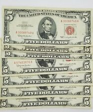 Five Dollar Bill With Red Ink : dollar, Dollar, Products