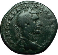MACRINUS 217AD Ancient Roman Coin Nicopolis ad Istrum ASCLEPIUS MEDICINE i66589